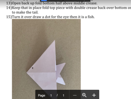 Gracie origami